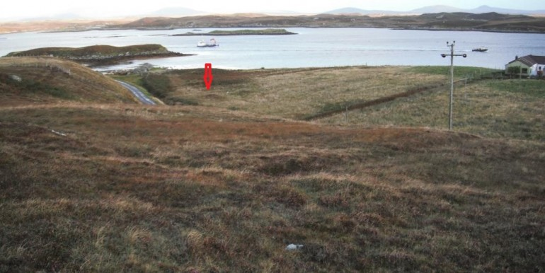 picture showing position of house site